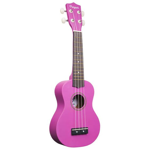 Amahi PGUKPU Soprano Penguin Ukulele with Gig Bag - Purple