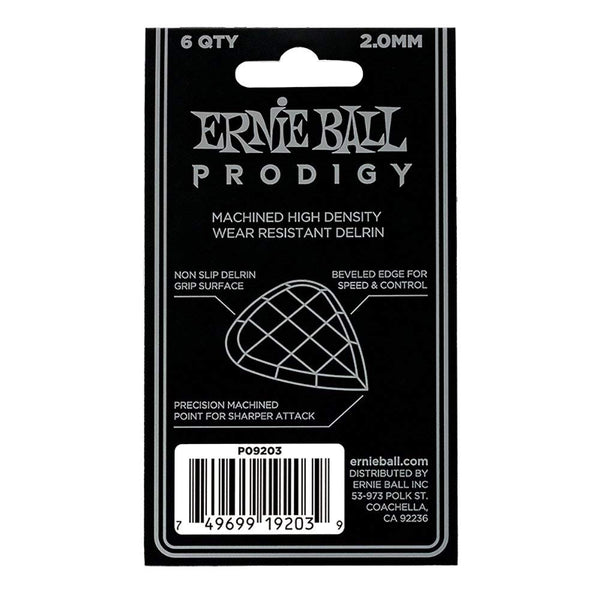 Ernie Ball 9203 Prodigy 2.0mm Mini Guitar Picks White