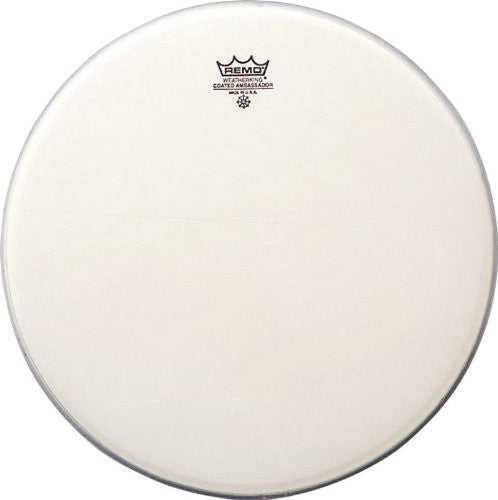 Remo BA-0114 14-Inch Ambassador Drum Head, Coated Smooth White