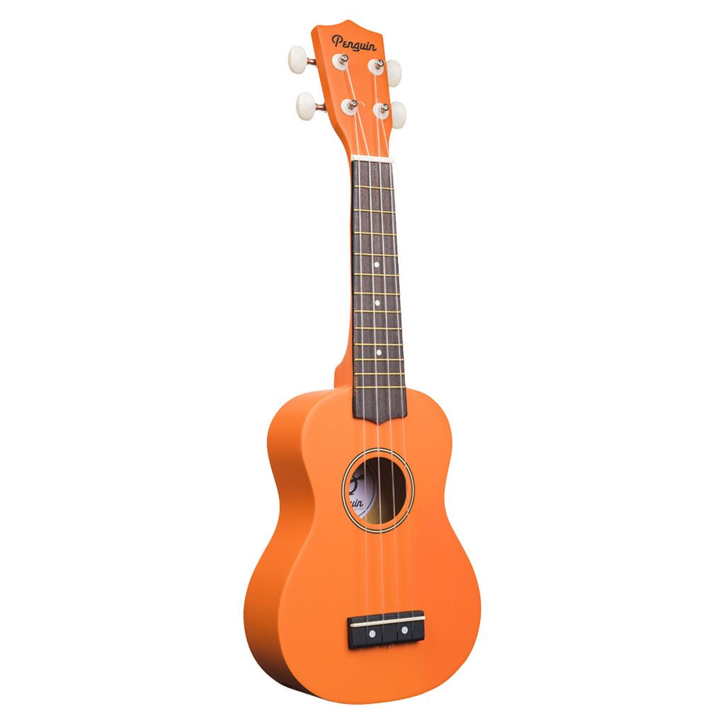 Amahi PGUKOR Soprano Penguin Ukulele with Gig Bag - Orange