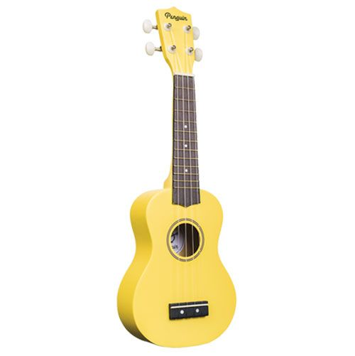Amahi PGUKYW Soprano Penguin Ukulele with Gig Bag - Yellow