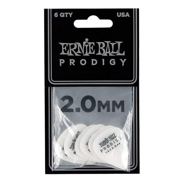 Ernie Ball 9202 Prodigy 2.0mm Standard Guitar Picks White