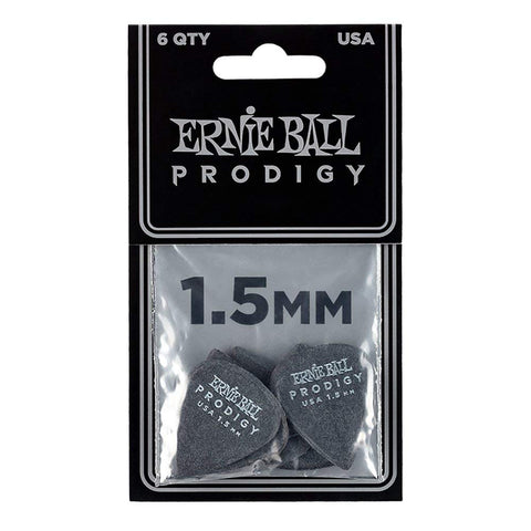 Ernie Ball 9199 Prodigy 1.5mm Standard Guitar Picks Black
