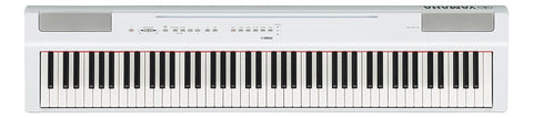 Yamaha P125WH 88-Key Weighted Action Digital Piano with Power Supply and Sustain Pedal White