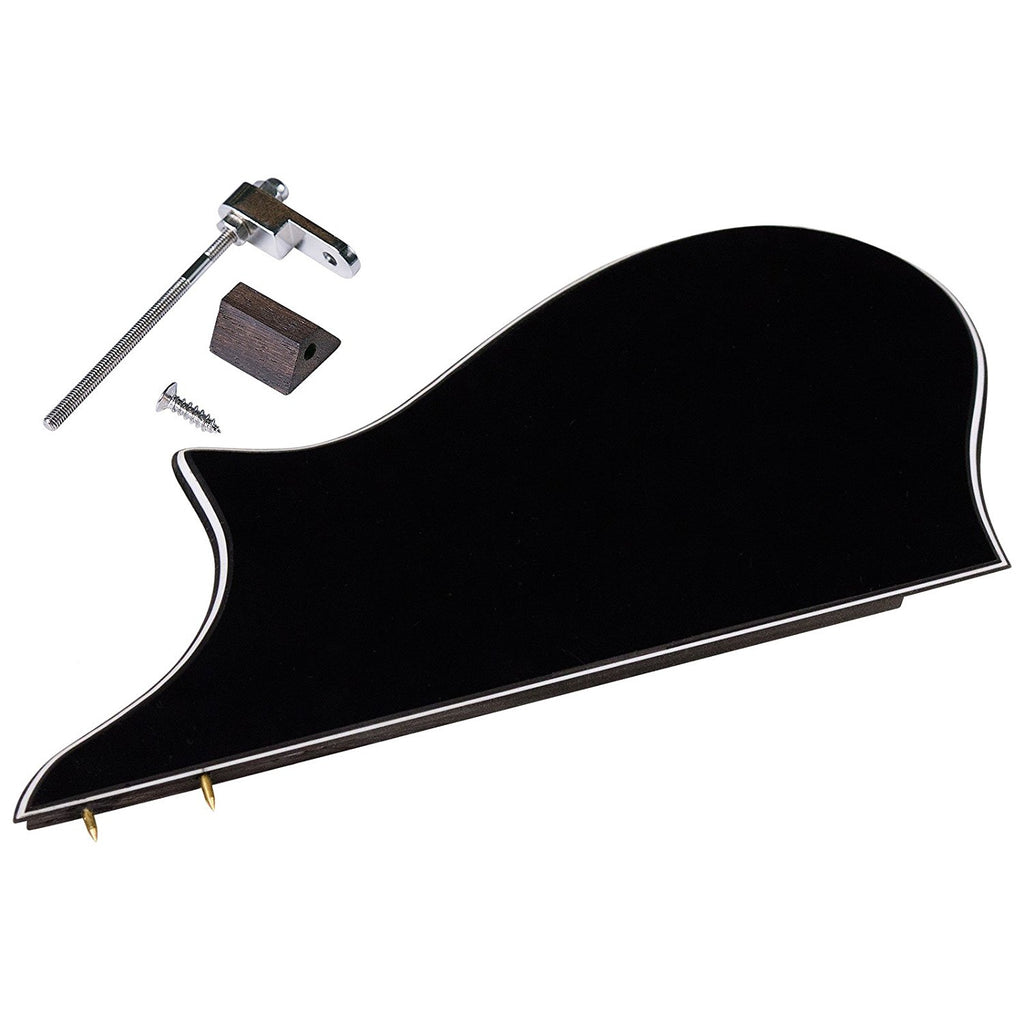 Golden Gate M-401A F-Model Mandolin Pickguard Assembly - Black/White/Black