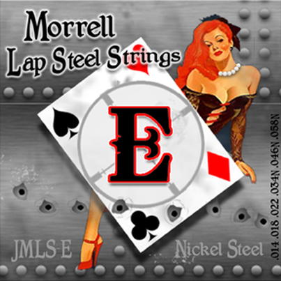 Morrell JMLS-E Premium 6-String Lap Steel Guitar Strings for E-Tuning 14-58