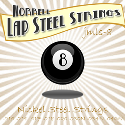 Morrell JMLS-8 Premium 8-String Lap Steel Guitar Strings Nickel Steel 10-46