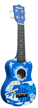 Amahi DDUK2 Soprano Ukulele with Gig Bag - Blue Bird