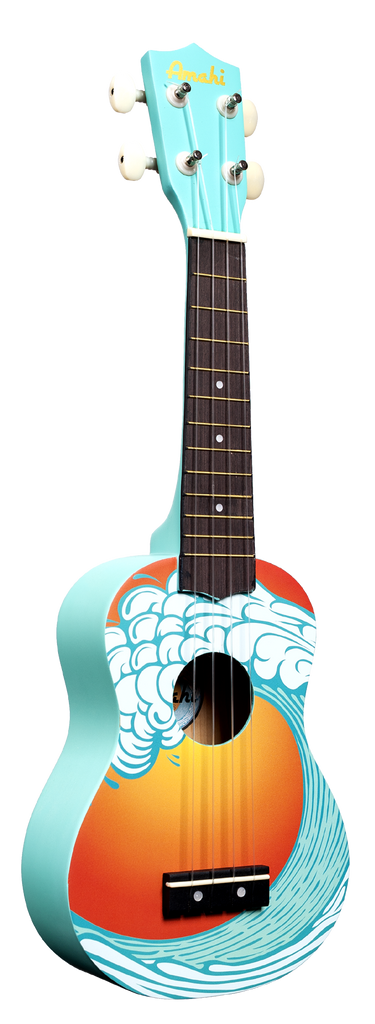 Amahi DDUK9 Soprano Ukulele with Gig Bag - Ocean Blue