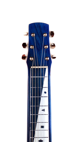 Joe Morrell Pro Series 6-String Lap Steel Guitar Transparent Blue