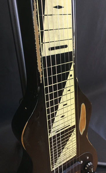 Morrell PRO Series Lap Steel Guitar 8-String Maple Body Vintage Black Relic