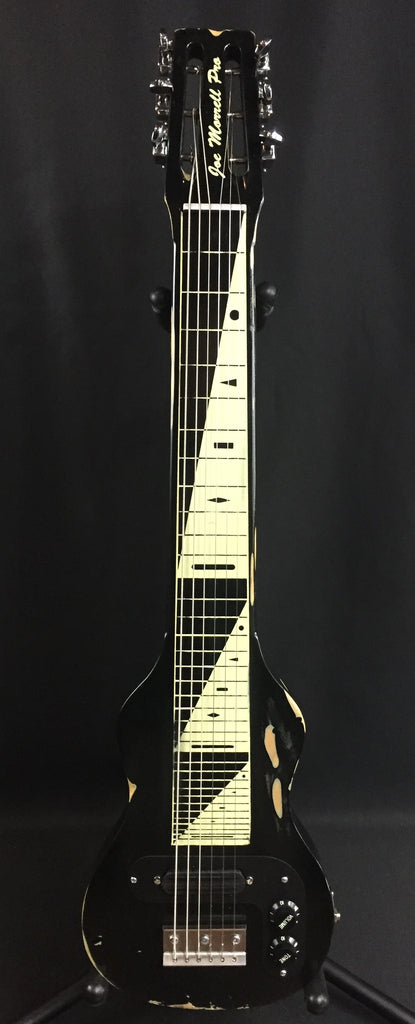Morrell PRO Series Lap Steel Guitar 6-String Maple Body Vintage Black Relic