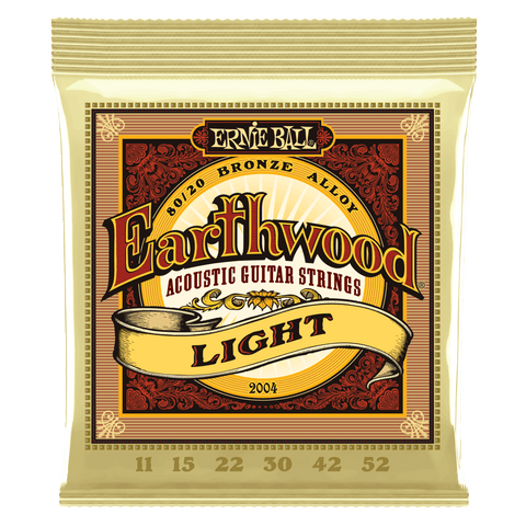 Ernie Ball 2004 Earthwood Acoustic Guitar Strings Light Bronze 11-52