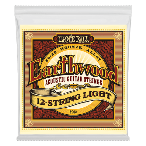Ernie Ball 2010 Earthwood 12-String Acoustic Guitar Strings Light Bronze 9-46