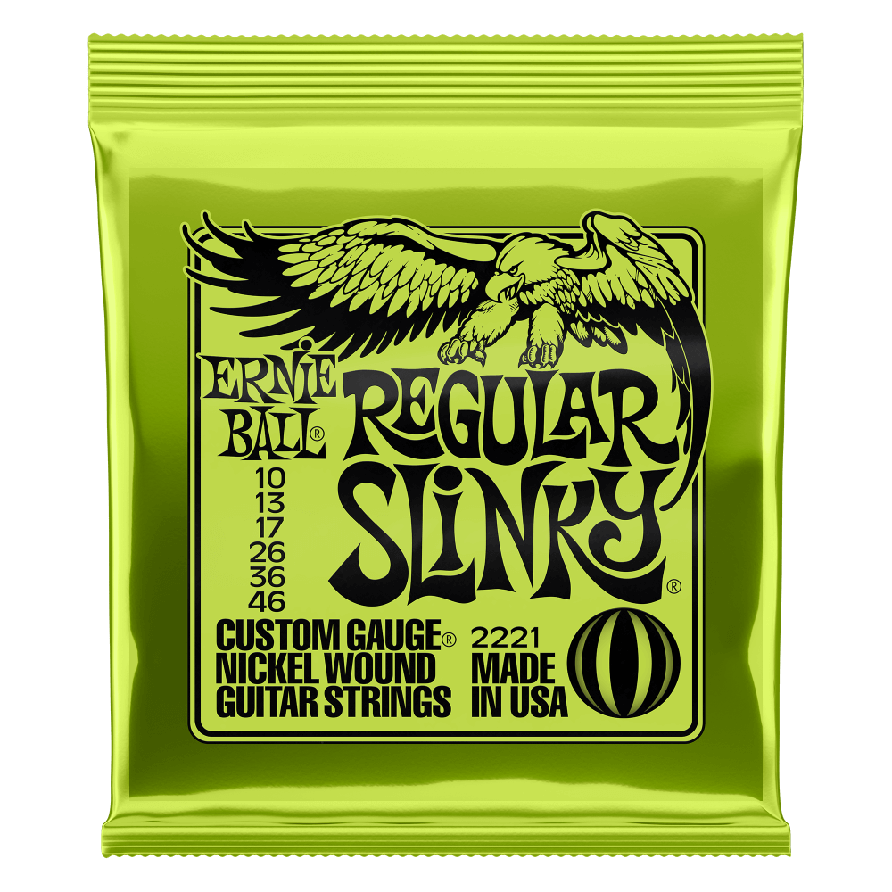 Ernie Ball 2221 Regular Slinky Nickel Electric Guitar Strings 10-46