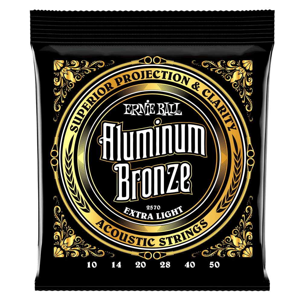Ernie Ball 2570 Aluminum Bronze Acoustic Guitar Strings Extra Light 10-50