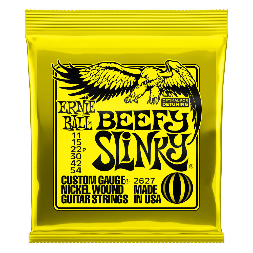 Ernie Ball 2627 Beefy Slinky Nickel Electric Guitar Strings 11-54