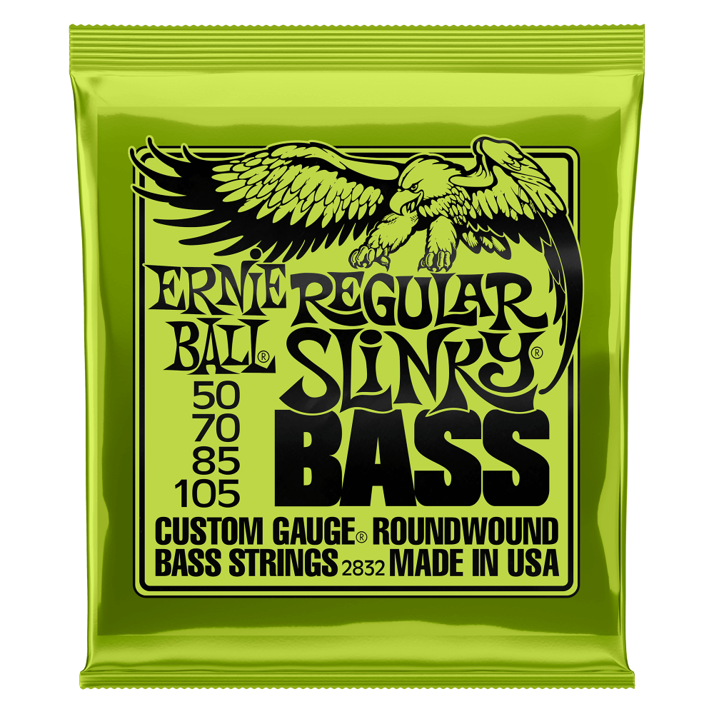 Ernie Ball 2832 Regular Slinky Electric Bass Guitar Strings 50-105