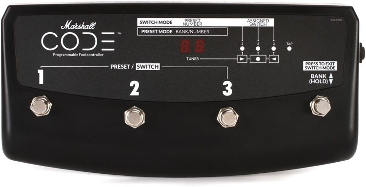 Marshall PEDL-41009 4-Way Footswitch for CODE Series Amps