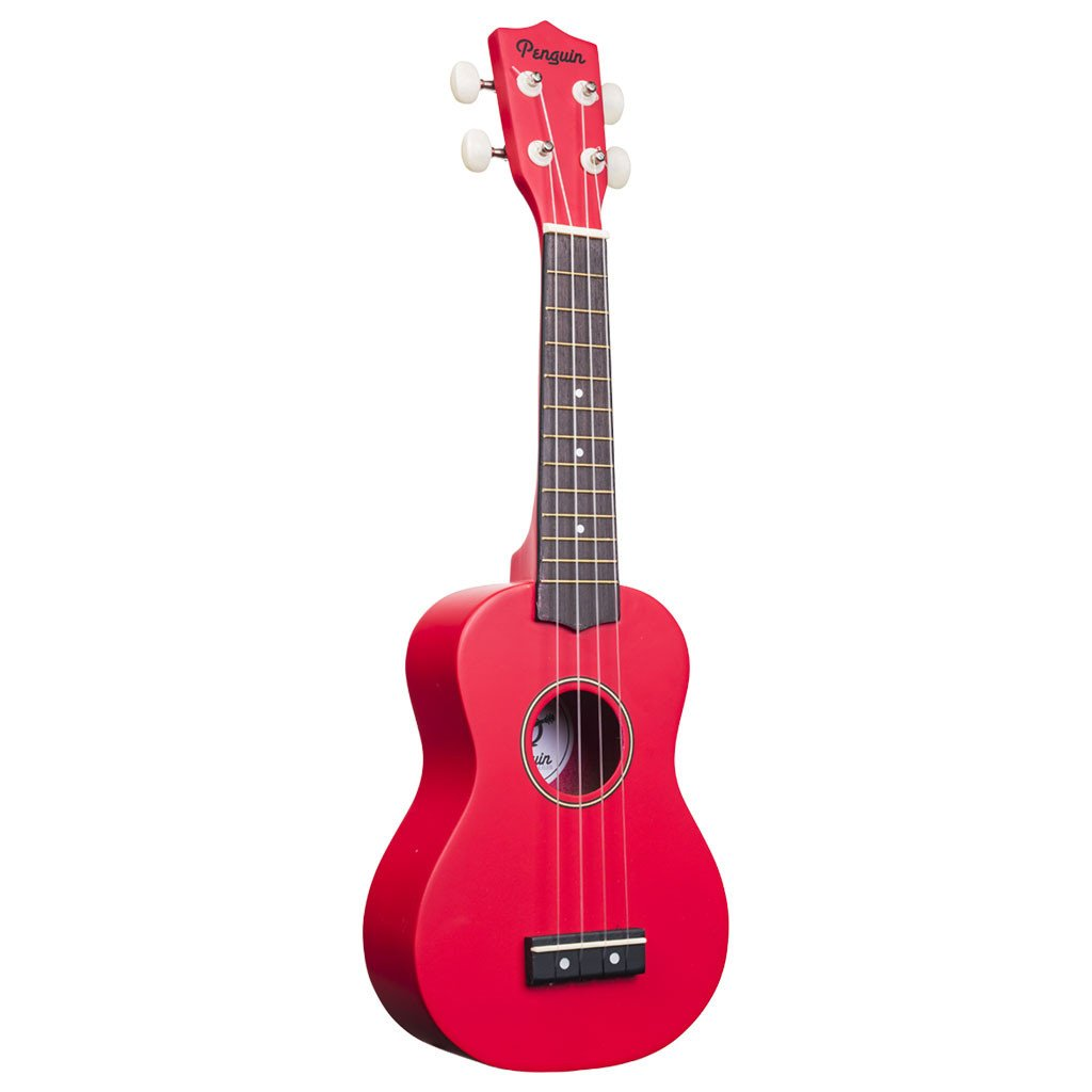 Amahi PGUKRD Soprano Penguin Ukulele with Gig Bag - Red