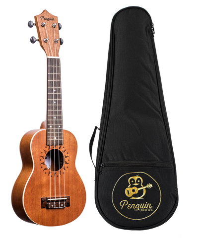 Amahi PGUKMS Penguin Soprano Ukulele with Gig Bag