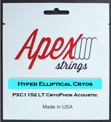 Apex Strings PXC1152 Hyer Elliptical Cryos Acoustic Guitar Strings Light 11-52