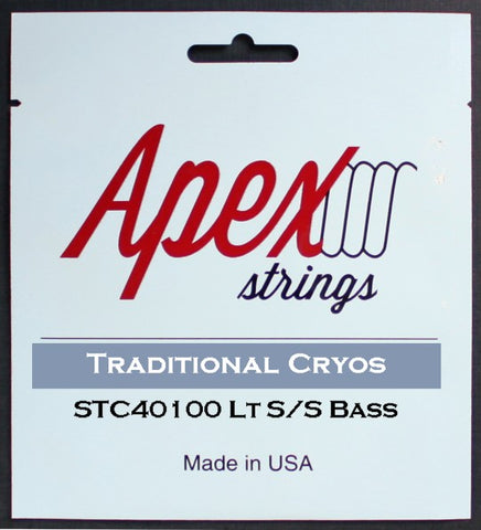 Apex Strings STC40100 Traditional Cryos 4-String Bass Guitar Strings Light 40-100