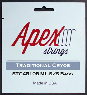 Apex Strings STC45105 Traditional Cryos 4-String Bass Guitar Strings Med/ Light 45-105