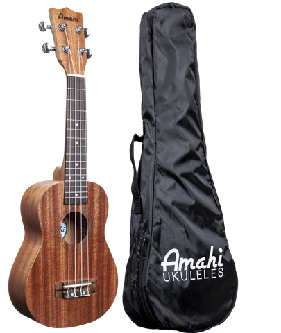 Amahi UK120W Soprano Ukulele with Gig Bag