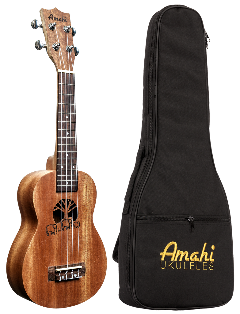 Amahi UK130 Soprano Ukulele with Gig Bag
