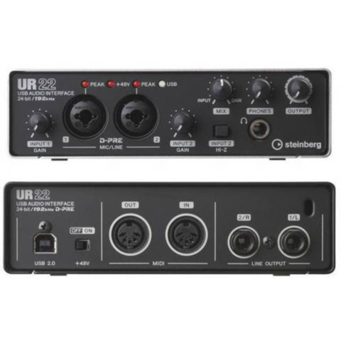 Steinberg UR22 MKII 2x2 USB 2.0 Audio Interface with 2 x D-PRE