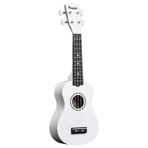 Amahi PGUKWH Soprano Penguin Ukulele with Gig Bag - White