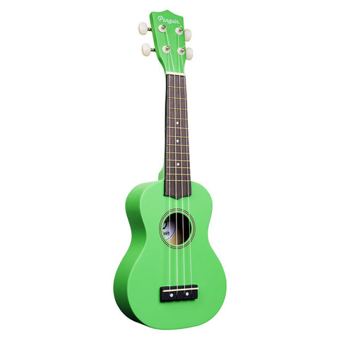 Amahi PGUKGR Soprano Penguin Ukulele with Gig Bag - Green
