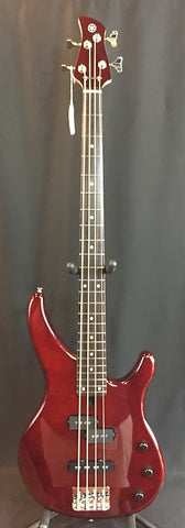 Yamaha TRBX174EW Exotic Woods 4-String Electric Bass Guitar Root Beer