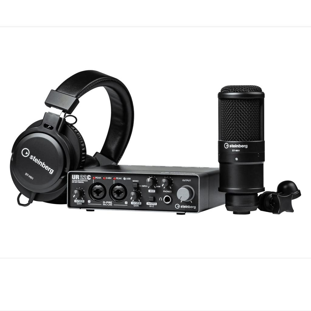 Steinberg UR22MKII 2x2 USB 2.0 Audio Interface Recording Pack