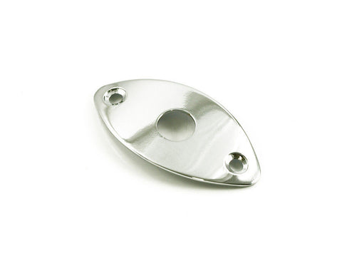 "WD JCB2C Football-Shape Guitar Jack Plate for 1/4"" Jack - Chrome"