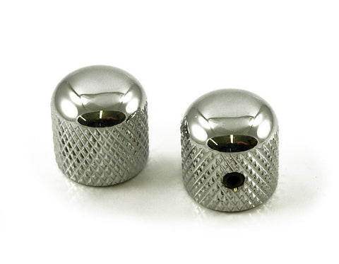 WD BBKCUS DOME GUITAR KNOB - CHROME PLATE - 1/4 IN. HOLE [SET OF 2]