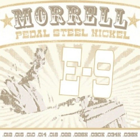 Morrell E-9 Premium 10-String Nickel Pedal Steel Strings
