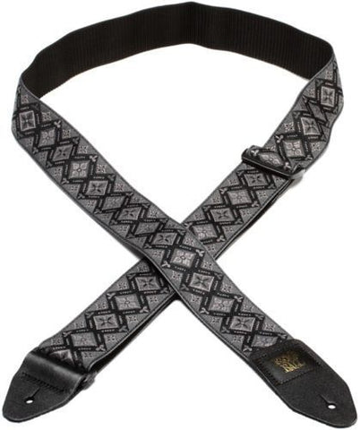 Ernie Ball 4093 Adjustable Jacquard Guitar Strap - Regal Black