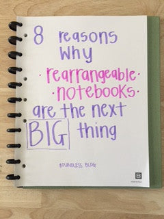 Eight Reasons Why Rearrangeable Notebooks are the Next Big Thing