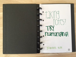 Taking Notes in Class? Trying Rearranging