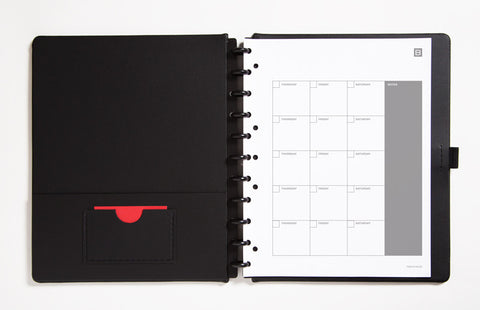 Letter Sized Leather Calendar Notebook