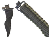 BuckStruck Gun Sling Paracord 550 Adjustable w/ Swivels - For Rifle Shotgun And Crossbow Hunting - Survival and Shooting (Tactical Olive Black) - BuckStruck Outdoors