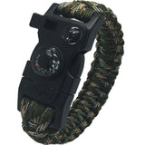Rescue Paracord Wristbands - Emergency Rope - Flint Firestarter - Whistle & Buckle - BuckStruck Outdoors
