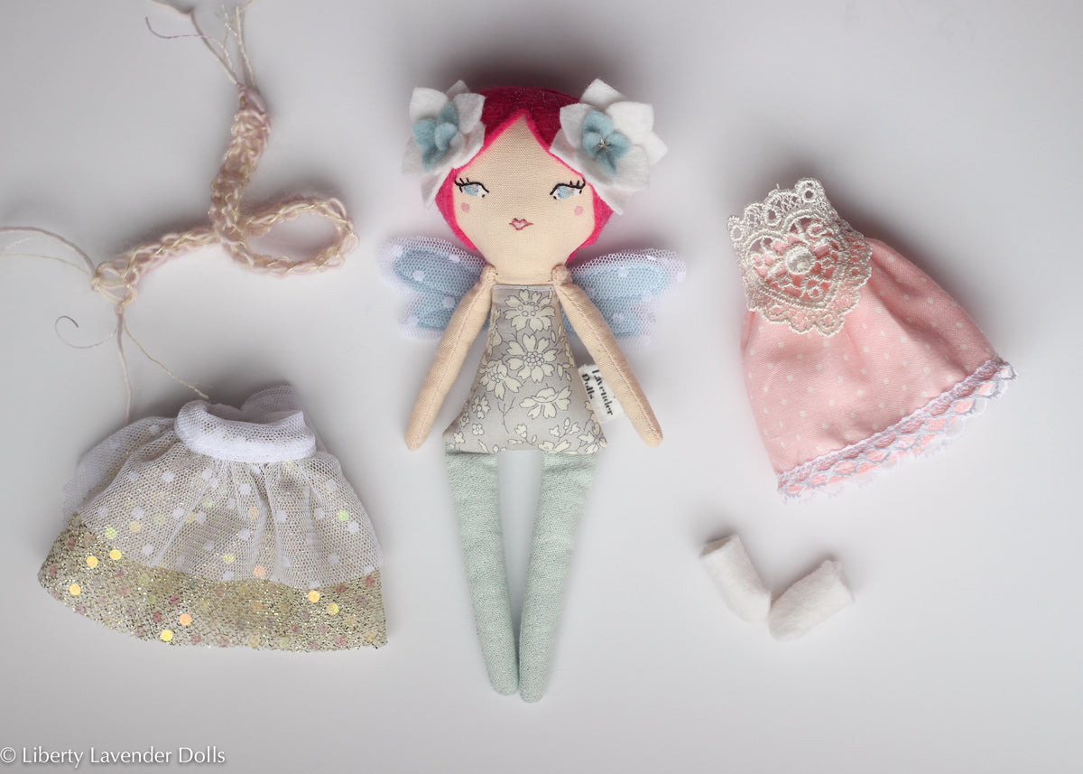 "Mini Fairy Heirloom Doll Play Set. 7"" ish tall."