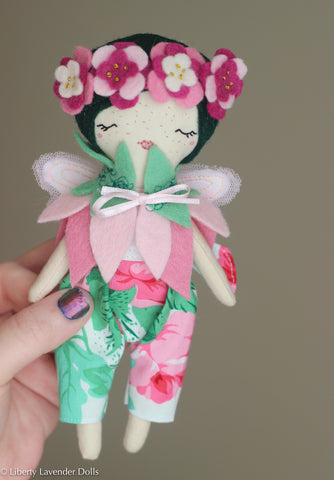 "Mini Fairy Heirloom Doll. 7"" ish tall."