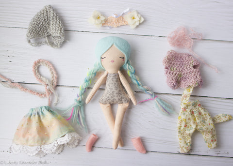 "Mini Fairy Heirloom Doll Play Set . 7"" ish tall."
