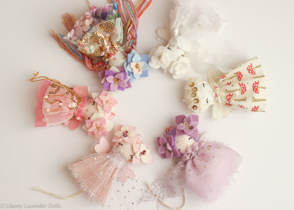Mini Doll Ornaments. Ready to ship. First batch.