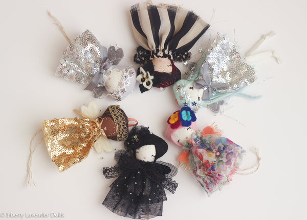 Mini Doll Ornaments. Ready to ship. Second batch.