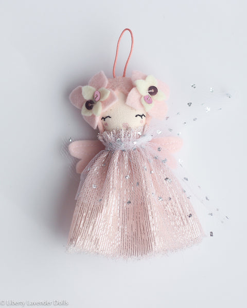 PREORDER: Mini Doll Ornament. Aurora, Limited Edition Tiny Fairy Made to order